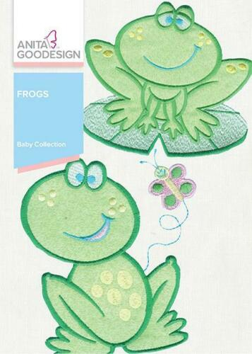 Baby Frogs  Anita Goodesign Embroidery Machine Designs CD