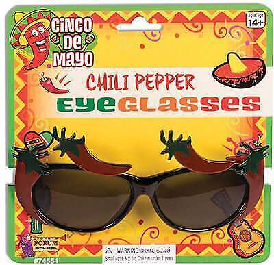 Adult Mexican Chilli Pepper Glasses Fancy  Dress Accessory