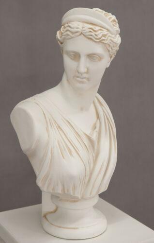Büste Büsten Skulptur Figur Helena griechisch Figur Gott Säule Skulptur Antike