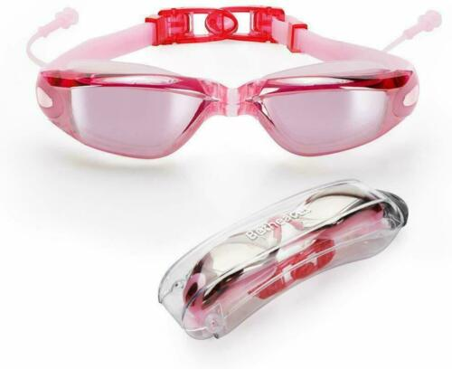Betheaces Swim Goggles Waterproof Anti Fog UV Protection No Leaking with EarPlug
