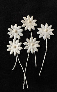 20 flowers white tiny mulberry paper daisy tear bears miniatures image is loading 20 flowers white tiny mulberry paper daisy tear mightylinksfo