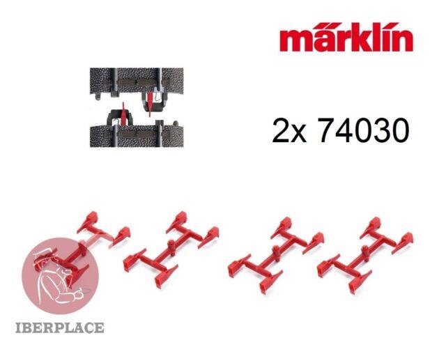2x Märklin 74030 (16) H0 escala 1:87 AC vias C Aislamiento de conductor central