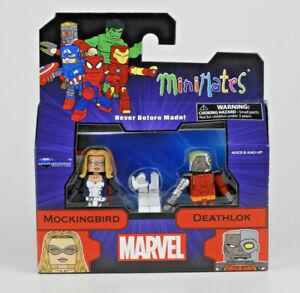 Marvel Minimates Series 80 Espionage Mockingbird & Deathlok 2 Pack Figures - NEW