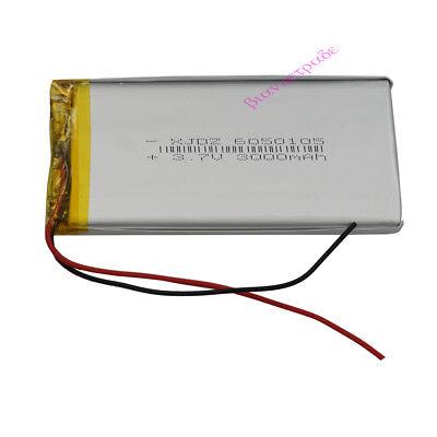 3.7V 3000 mAh Polymer Li battery LiPo For GPS iPAQ Power bank Tablet PC 6050105