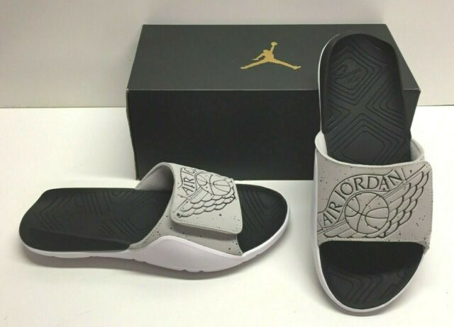 huge selection of 5d888 d8f8e Nike Air Jordan Hydro 7 Tech Gray Slides Sandals Beach Casual Shoes Mens 12
