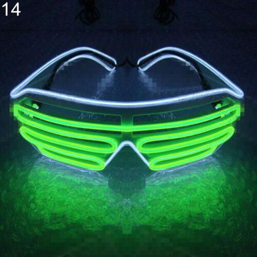 LN/_ EG/_ LED LIGHT-UP EYE GLASSES DOUBLE COLOR EL FLASHING HALLOWEEN BAR EYEWEA