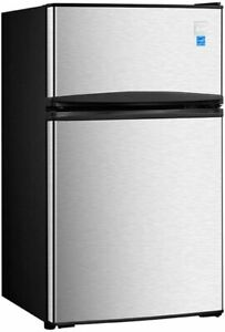 Avanti-3-1-Cu-Ft-Two-Door-Stainless-Counterhigh-Compact-Refrigerator