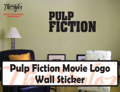Pulp Fiction Movie Logo Custom Wall Vinyl Sticker