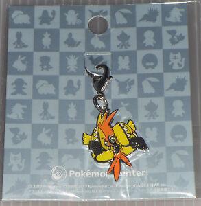 Pokemon Center Metal Charm Black Tapu Koko Key Chain
