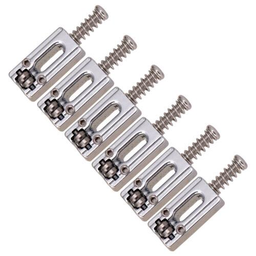 6er Set Roller Saddles Bridge Saitensättel für E Gitarren Teile Silber