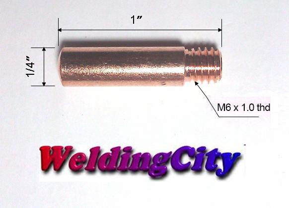 Weldflame 5-pk Gas Diffuser 35-50 for Lincoln Magnum 100L Tweco Mini No.1 MIG Welding Guns