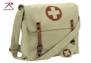 Image Is Loading Vintage Military Army Medic Bag Khaki W Cross