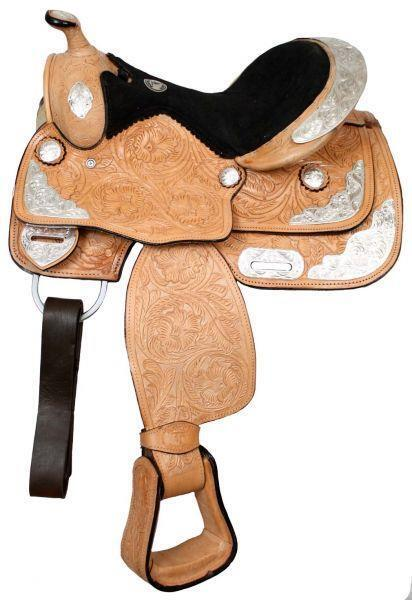 12 or 13 Double T Fully tooled Double T Youth Pony Show Saddle Suede Seat 9655