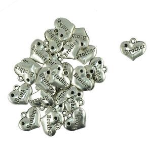 30pcs-Tibet-Silver-Brother-Heart-Wedding-Charms-Pendants-DIY-Jewelry-Making