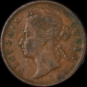 Straits Settlements 1888 1 Cent KM #16 Fine