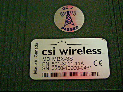 CSI WIRELESS MBX-3S BEACON RECEIVER /& GPS ANTENNA MGL-3 BACKPACK W// CABLES