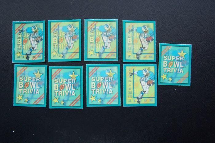 NFL Super Bowl Trivia Motion Football Cards Score Brand