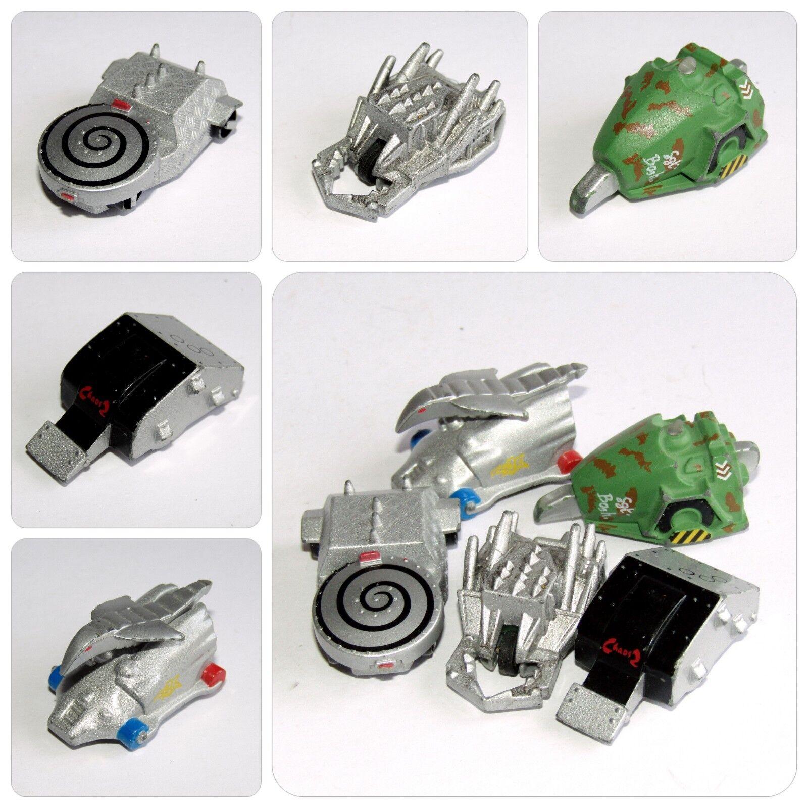 BBC Robot Wars MINIBOTS x 5 Razar, Chaos 2, Sgt. Bash, Hypdo-Disc, Dead Metal