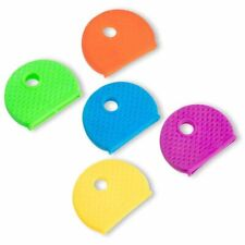 100 Pack Multi Colors Key Id Label Covers Rubber Key Cap Tags Identifier Caps