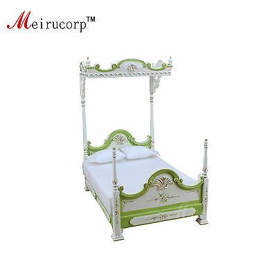 dollshouse furniture 1//12 scale vintage Hand carved Classical bed