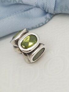 Authentic-Pandora-Oval-Lights-Peridot-Green-Cz-Charm-790311GCZ