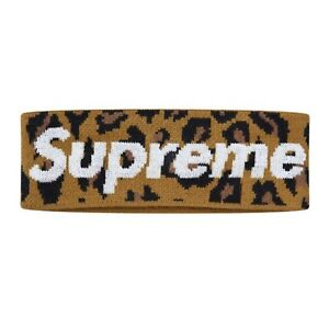 3e6f2f96837 Image is loading Supreme-New-Era-Big-Logo-Headband-Leopard-Box-