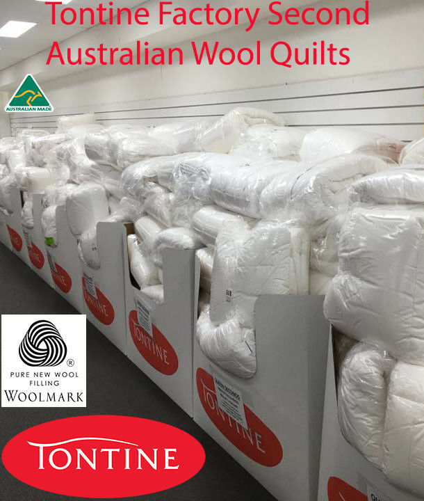 Tontine FACTORY SECOND 500GSM Super Warm Australian Wool Doona Quilt All Sizes