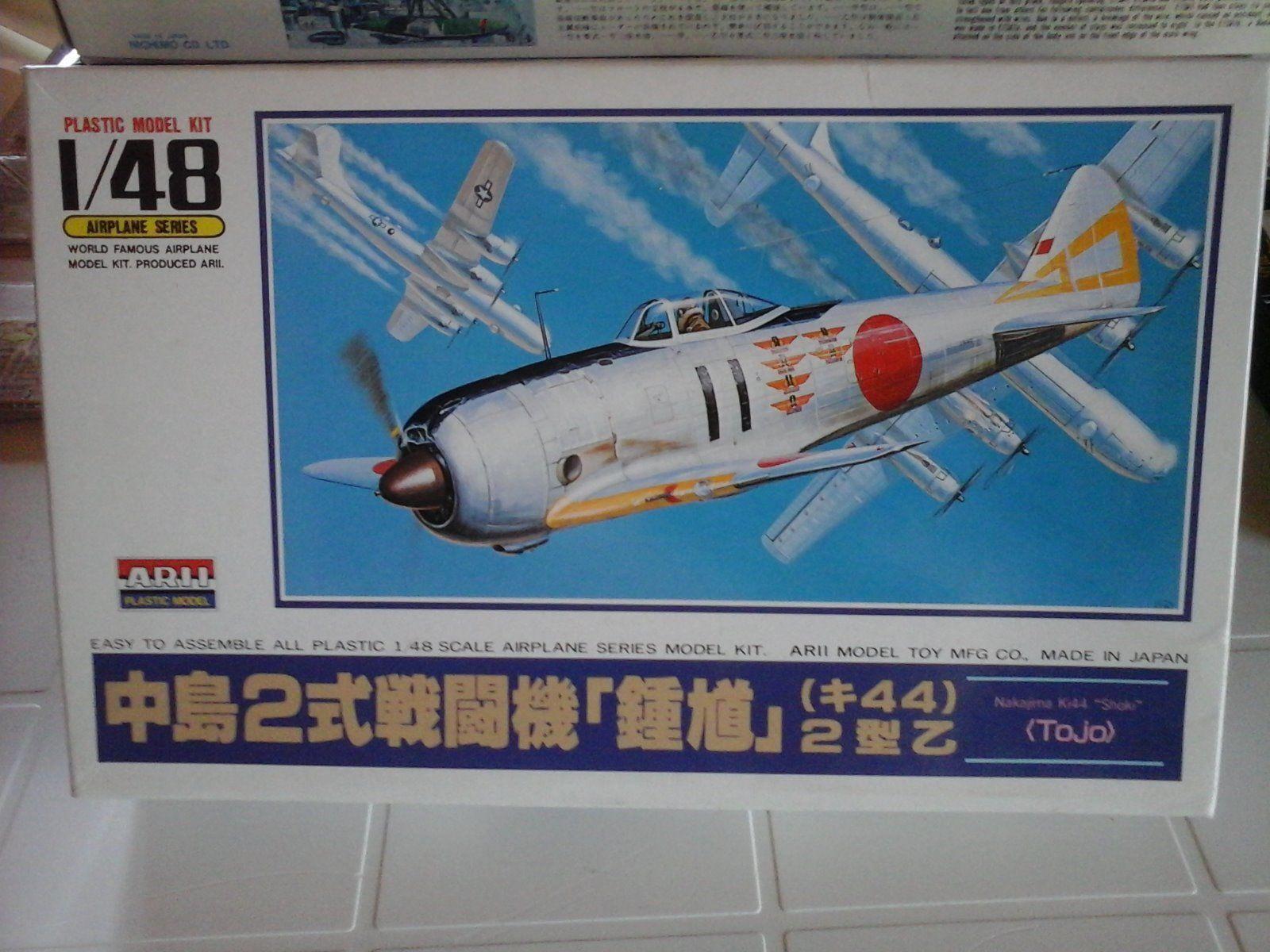 NAKAJIMA KI44 SHOKI  TOJO  INTERCEPTOR FIGHTER 1 48 SCALE ARII MODEL JAPAN