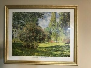 Vintage-Claude-Monet-034-The-Parc-Monceau-Paris-034-Framed-Print-Really-nice