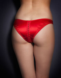 ecddd71677 AGENT PROVOCATEUR SEXY GORGEOUS JENA in Red Satin Ouvert Brief L  4 ...
