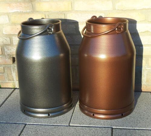 Milchkanne 20L Alu Deko Geschenk pulverbeschichtet in Kupfer-Antik Silber-Antik