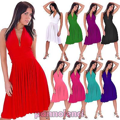 Abito scollato danza Marilyn ballo tango latino moda vestito miniabito KLL9 | eBay