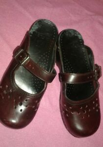 Dansko Maroon Chunky Backless Mary Jane  Schoolgirl Shoe Sz EUR 36