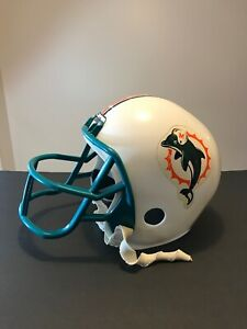 Franklin-Vintage-Logo-NFL-Miami-Dolphins-Kid-039-s-Play-Helmet-Decoration-Only-1970s