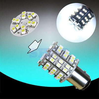 1157 BAY15D 60SMD Pure White Fog Tail Brake DRL Auto Car LED Light Bulb Lamp A