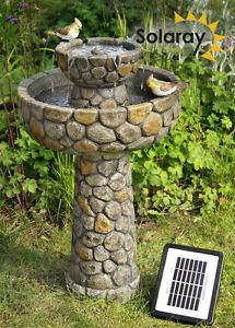 Vasca fontana solare per uccelli effetto lastricato for Vasca per stagno