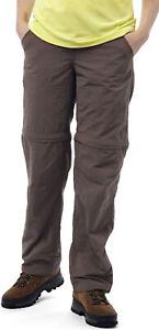 Craghoppers Nosilife Convertible Pour Femme (court) Marche Pantalon-marron-afficher Le Titre D'origine