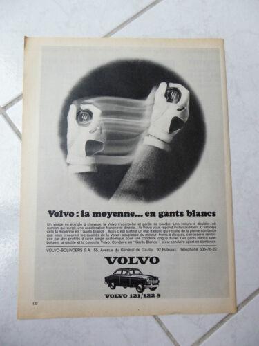 Publicité Volvo 121 122S Amazon 1966 advert presse coupure publicitaire