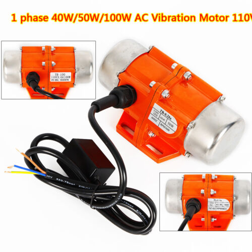 NEW AC Vibration Motor Vibrating Asynchronous Vibrator3600RPM 40//50//100W 110V US