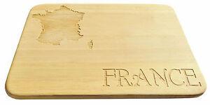 Brotbrettchen-France-Frankreich-Fruehstuecksbrettchen-Gravur-Holz