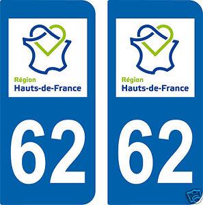 2-STICKERS-style-IMMATRICULATION-AUTO-Departement-62-HAUTS-DE-FRANCE