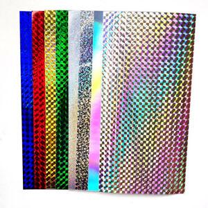 10-Pcs-Fishing-Stickers-Rainbow-3D-Holographic-Adhesive-Film-Flash-Tape-DIY