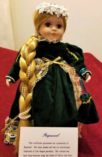 "10/"" Porcelain Storybook Doll RAPUNZEL 1998 Royalton Collection  NEW in Orig Box!"
