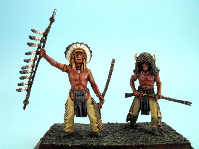 Amerikanische Indian wars Treppe 54mm