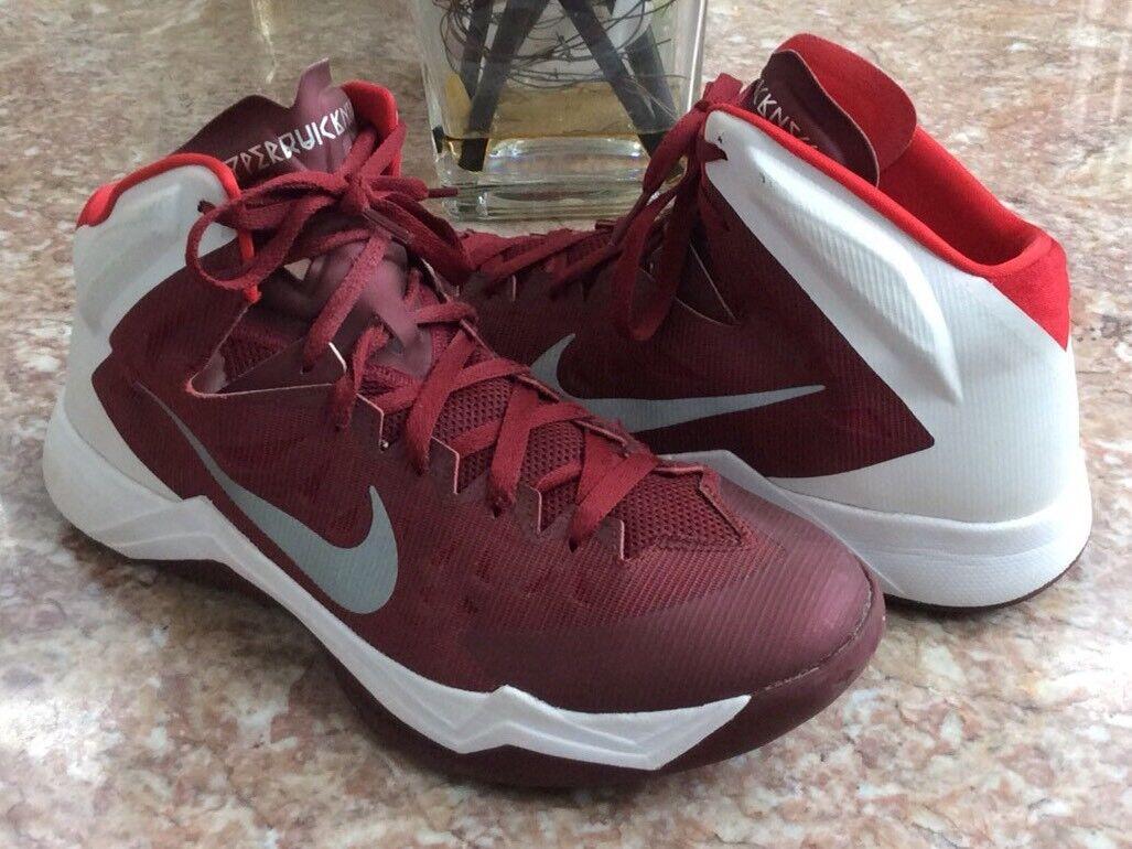 Nike Zoom hyperquickness TB Hombre SZ Maroon basketball Zapatos SZ Hombre 12 EUC marca de descuento 0146b5