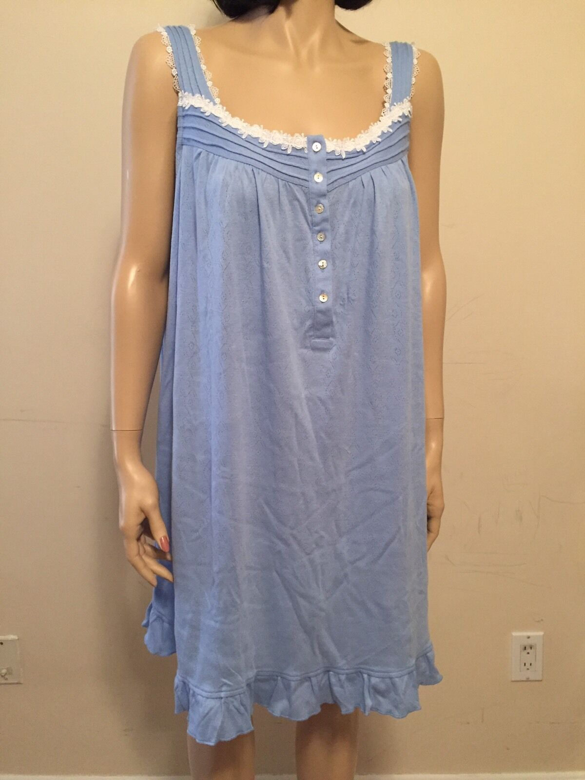 Eileen West Sleeveless Cotton Blend Nigh Gown Size L NWT