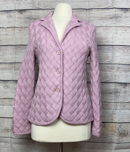 Talbots Merino Wool Lilac Woven Cardigan Jacket B… - image 1