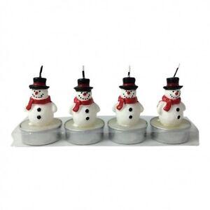 Snowmen-Christmas-Tree-Tea-Lights-amp-Glass-Star-Holders-Snowman-Tealight