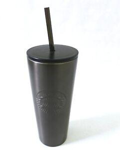 73d2fe5eb5c Image is loading Starbucks-Gray-Gunmetal-Embossed-Siren-Stainless-Steel-Cold -