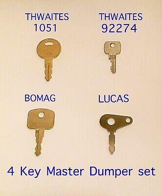 Superior Quality Made In The UK 7 Key Master Plant Excavator Dumper Set